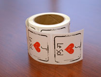 I Heart Soil Stickers French - Roll of 250