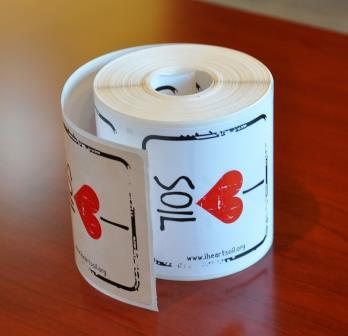I Heart Soil Stickers English - Roll of 250