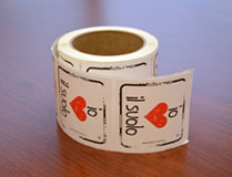 I Heart Soil Stickers Italian - Roll of 250