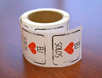 I Heart Soil Stickers Portuguese - Roll of 250